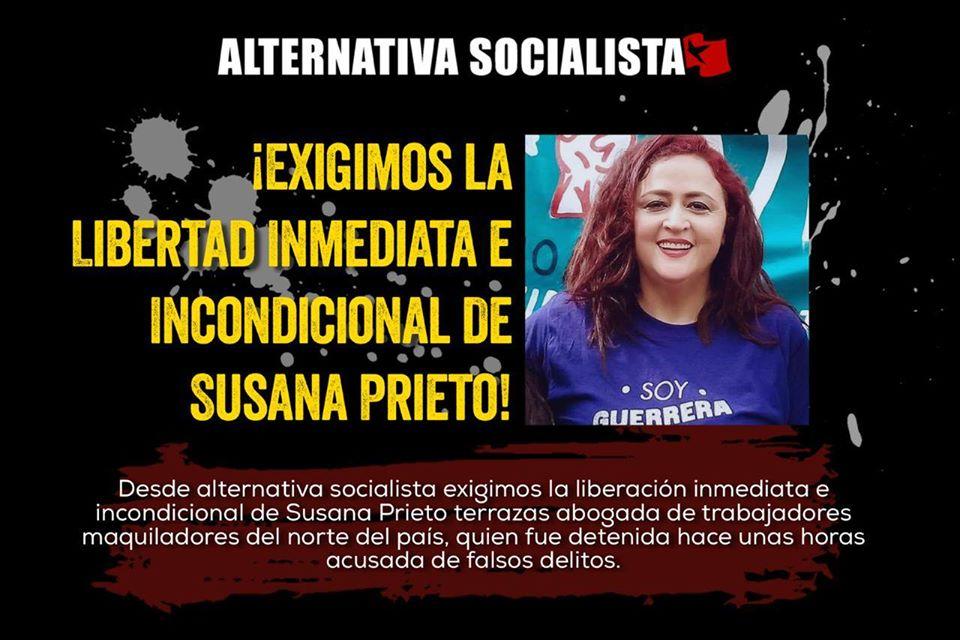 ¡Libertad inmediata e incondicional de Susana Prieto !
