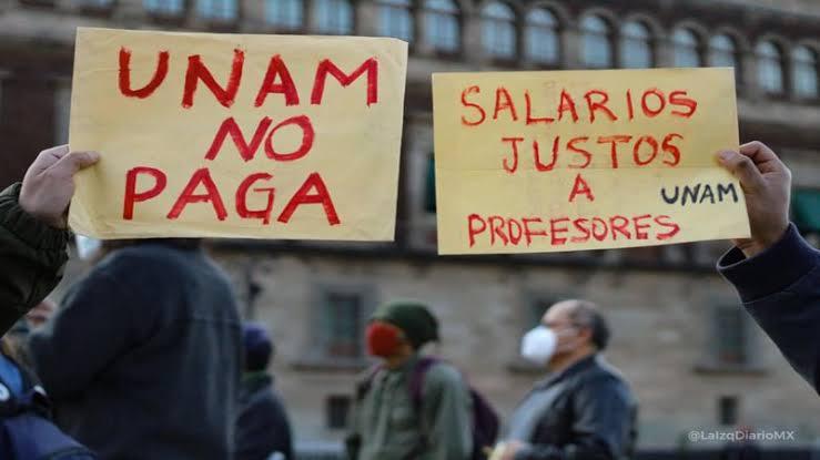 ¡La UNAM sí para! ¡Salarios dignos para todos los profesores!