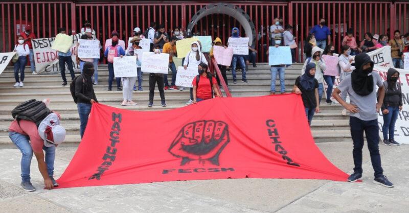 Libertad a los normalistas detenidos de la normal rural de Mactumactzá