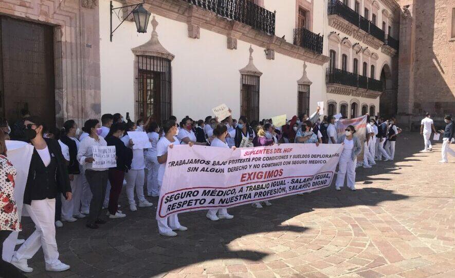 ¡Zacatecas, escucha: el gremio de la salud está en lucha!